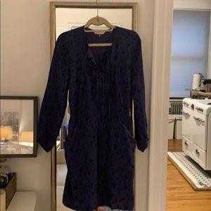 Rebecca Taylor silk blue/black dress